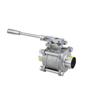 Sanitary Stainless Steel 3Pcs Welding Ball Valve
