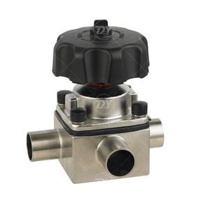 Sanitary Stainless Steel Three Way Manual Diaphragm Valve